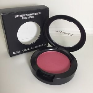 MAC sheertone shimmer blush shade Dollymix